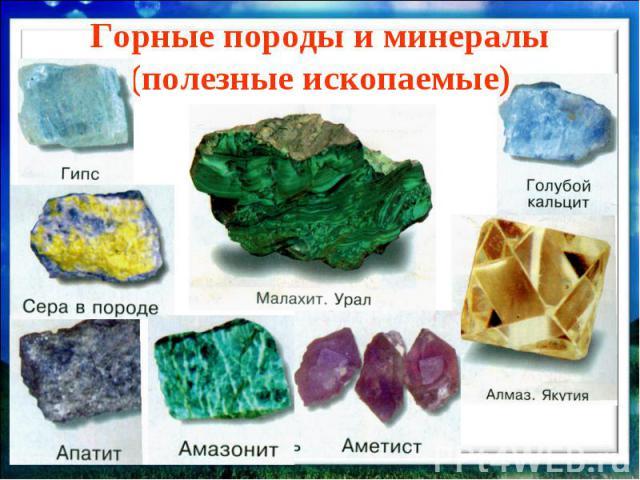Скачать презентацию минералы 3 класс