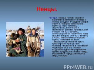 Народы Севера России Презентация