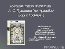 Русская история глазами А. С. Пушкина (по трагедии «Борис Годунов»)