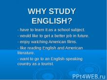 Why study english?