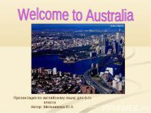 Welcome to Australia 6 класс
