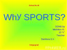 Why SPORTS?