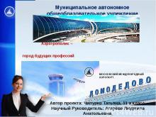 Аэротрополис-город будущих профессий