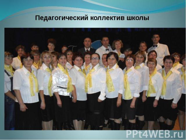 Педагогический коллектив школы Педагогический коллектив школы