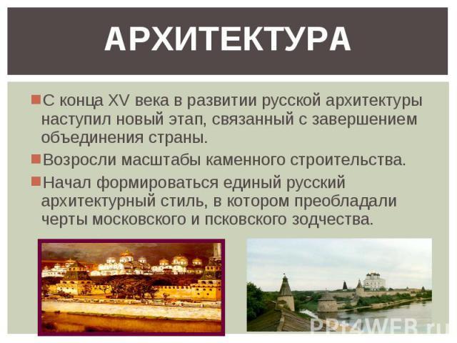 Архитектура Москвы 14-16 Века