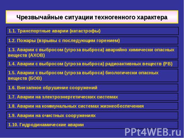 3-какие чрезвычайные ситуации относятся к чрезвычайным ситуациям техногенного характера