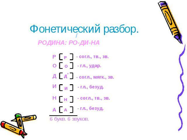 Как сделать разбор слова по буквам