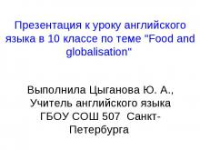 Food and globalisation