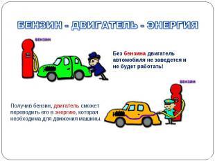 Без бензина двигатель автомобиля не заведется и не будет работать! Получив бензи