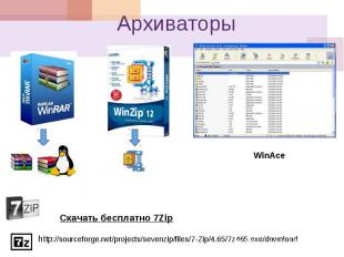 Архиваторы WinAce Скачать бесплатно 7Zip http ://sourceforge.net/projects/sevenz