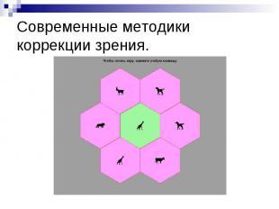 Современные методики коррекции зрения.