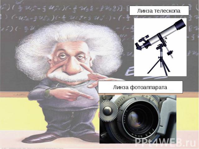 Линза телескопаЛинза фотоаппарата