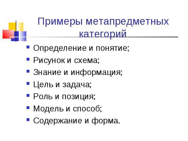 Примеры метапредметных