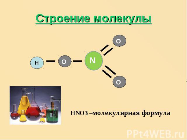 Строение молекулы HNO3