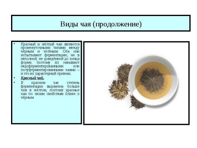 Презентация виды чая