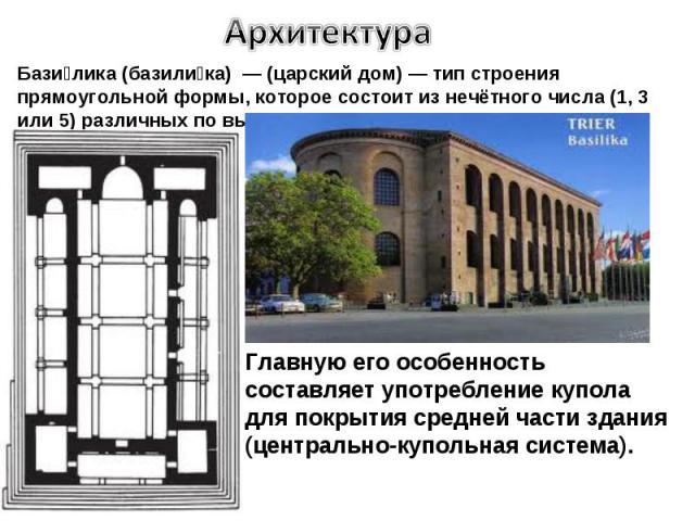 Архитектура в домашних условиях