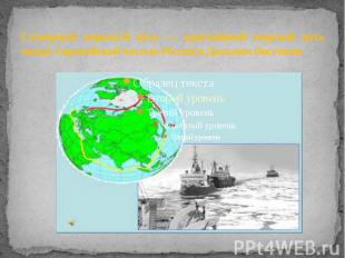 Северный морской путь — кратчайший морской путь между Европейской частью России