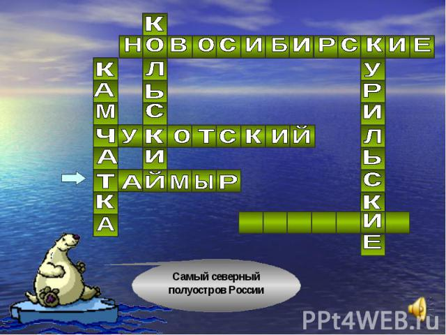 Самый северный полуостров России