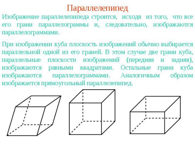 рисунок параллелепипед карандашом