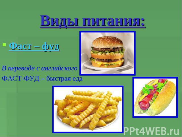 бюджетное правильное питание меню