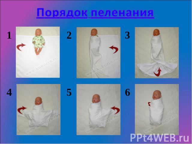 Как запеленать ребёнка
