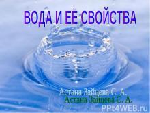 Вода и ее свойства 2 класс