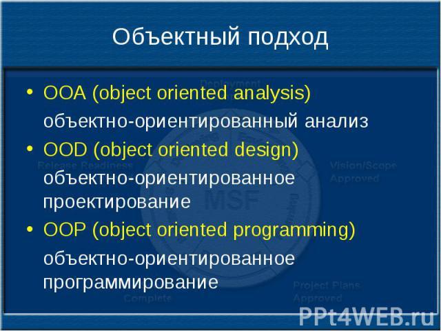 Объектно ориентированный дизайн и проектирование