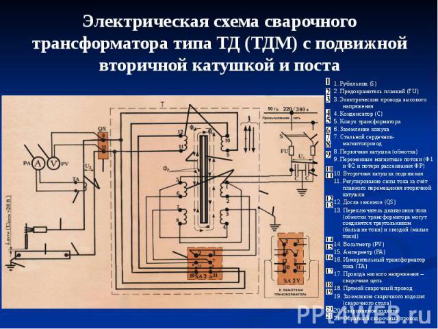 Схема сварочного аппарата тдм 504