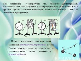Электрический по в тему физике ток презентация газах на
