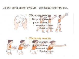 Ловля мяча двумя руками – это захват кистями рук.