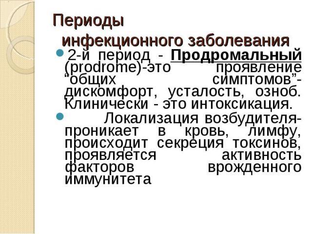 Продромальный Ii