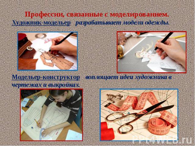 Профессии связанные с моделингом