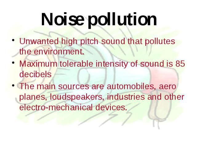 Noise Pollution - Assignment Example - Primetimeessay