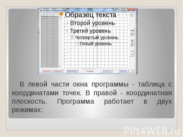 Программа Для Работы С Координатной Плоскостью