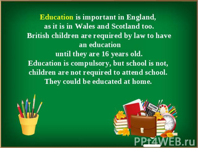 Презентация Система Образования В Англии