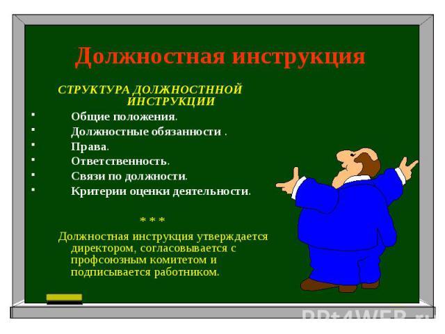 должностной инструкции и их место в системе управления персоналом - konfiskat-and-diskont.ru