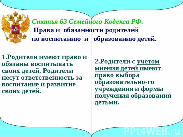 статьи семейного кодекса в картинках