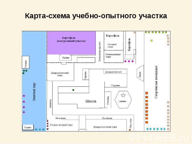 Карта-схема учебно-опытного