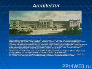 """Architektur Das neue Gebäude der Technischen Hochschule in Berlin"""", kolorierter"""