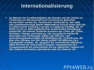 Internationalisierung Im Rahmen derExzellenzinitiativedes Bundes und