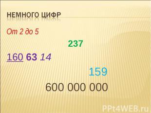 Немного Цифр