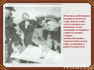 Несколько дней машина комдива колесила по степи, Жуков лично хотел осмотреть все