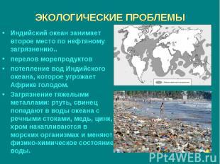 Индийский океан занимает второе место по нефтяному загрязнению.. Индийский океан