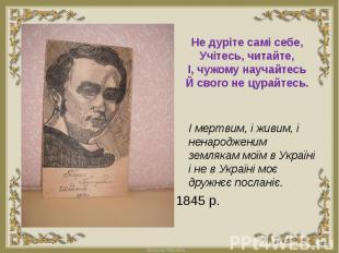 І мертвим, і живим, і ненародженим землякам моїм в Україні і не в Україні моє др