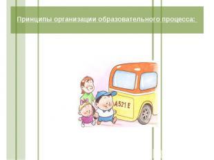 Принципы организации образовательного процесса:
