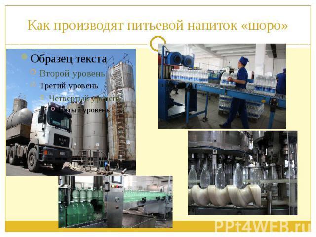 Как производят питьевой напиток «шоро»