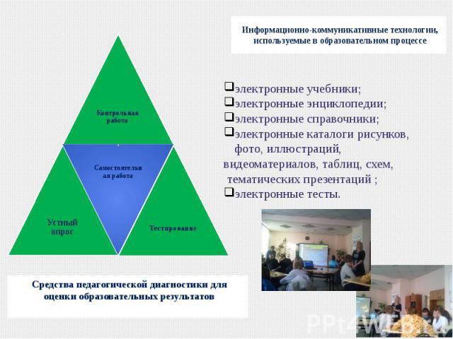 Средства педагогической диагностики для оценки образовательных результатовСредства педагогической диагностики для оценки образовательных результатов