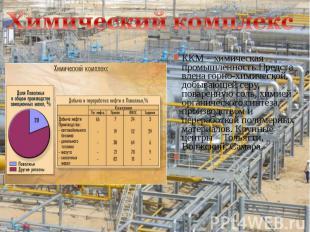 ККМ – химическая промышленность.Представлена горно-химической, добывающей серу,