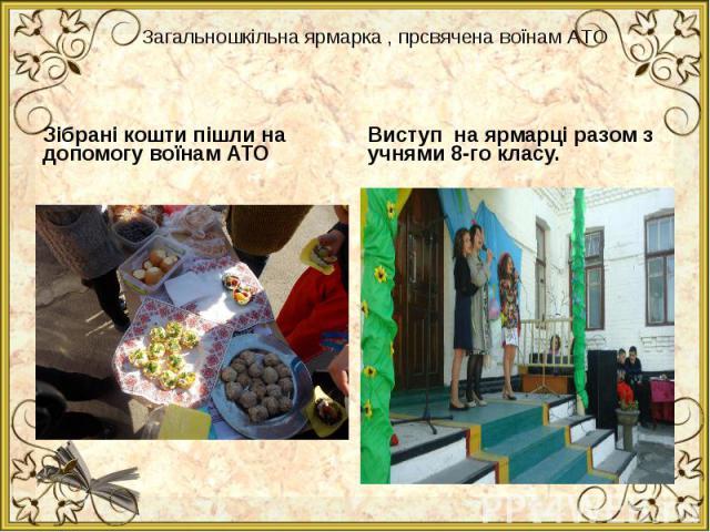Зібрані кошти пішли на допомогу воїнам АТО Зібрані кошти пішли на допомогу воїнам АТО