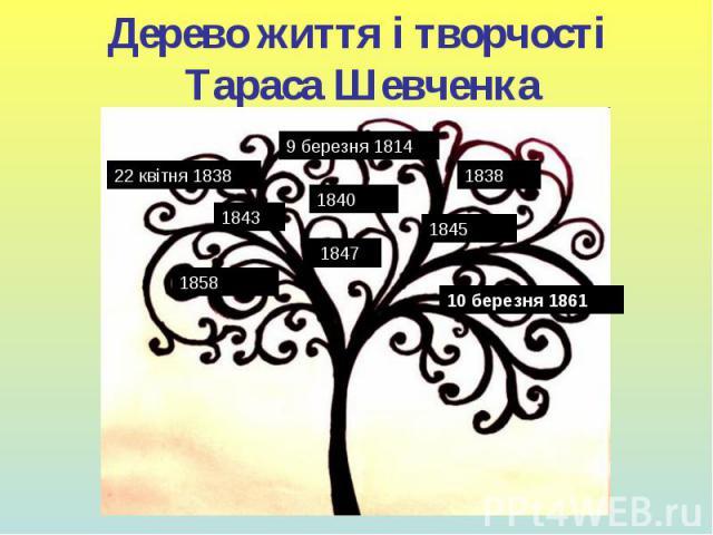 Дерево життя і творчості Тараса Шевченка